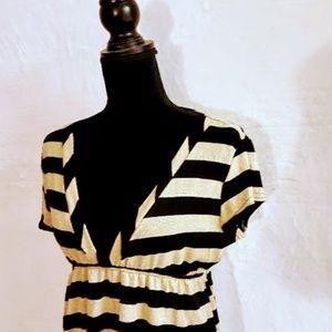 C20 Objex Gold & Black Striped Short Sleeve Low Cu